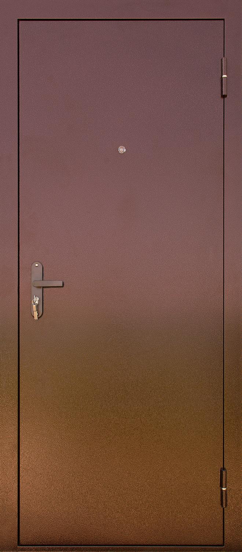 дверь металлическая эконом медный антик