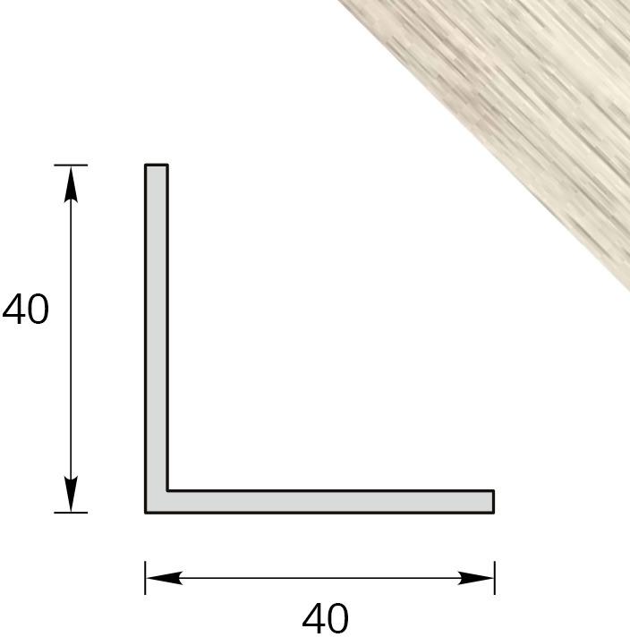 У40 КЛН СЕВ Угол отделочный ПВХ 40х40 мм (клен северный, 2.7 м) Идеал