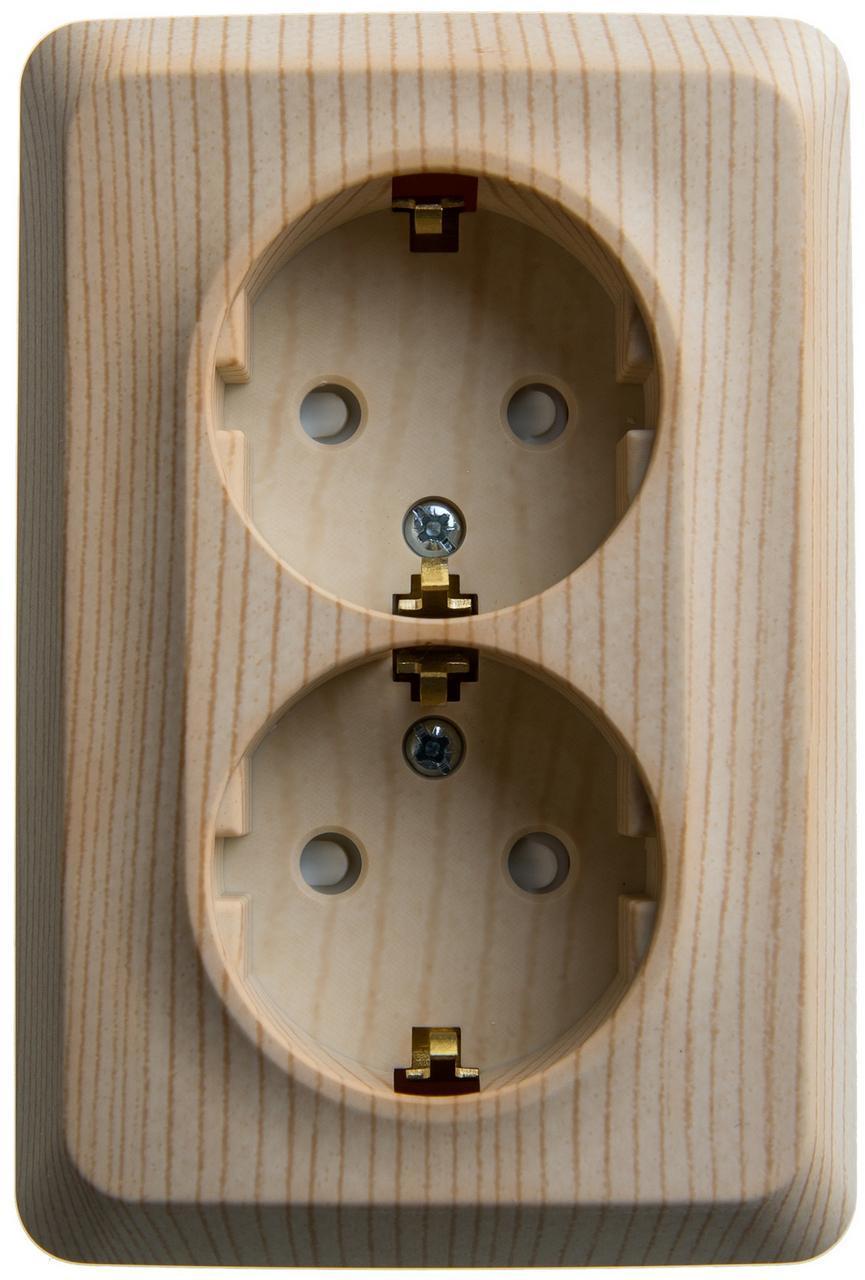 Фото Schneider Electric Этюд PA16-108D Розетка двойная угловая с  заземляющим контактом и шторками ( 101fe092058