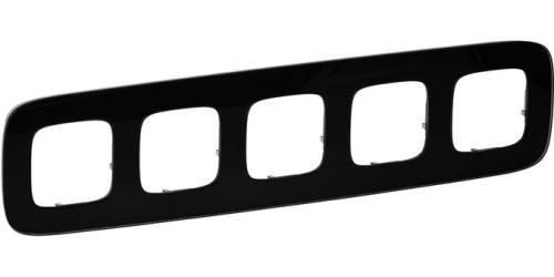 Купить со скидкой Valena Allure 755535 Рамка 5-постовая (универсальная, черное стекло) Legrand