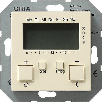 Купить со скидкой System55 237001 Терморегулятор электронный с таймером +0…+50°С (8 А, под рамку, скрытая установка, к
