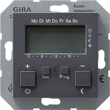 Купить со скидкой System55 237028 Термостат электронный с таймером +0…+50°С (8 А, под рамку, скрытая установка, антрац