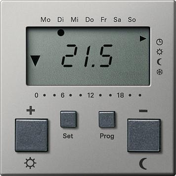 Купить со скидкой System55 2370600 Терморегулятор электронный с таймером +0…+50°С (8 А, под рамку, скрытая установка,