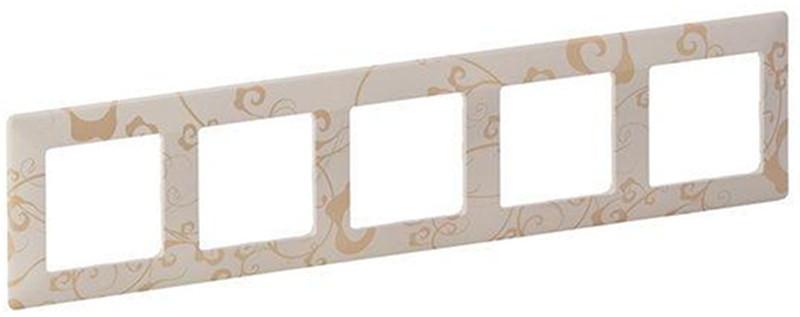 Купить со скидкой Valena Life 754115 Рамка 5-постовая (универсальная, ампир бежевый) Упаковка (5 шт.) Legrand