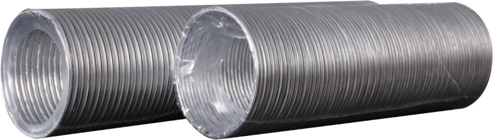 20ВА Воздуховод круглый гофрированный гибкий Ø200 мм (алюминий, L до 3 м) ERA