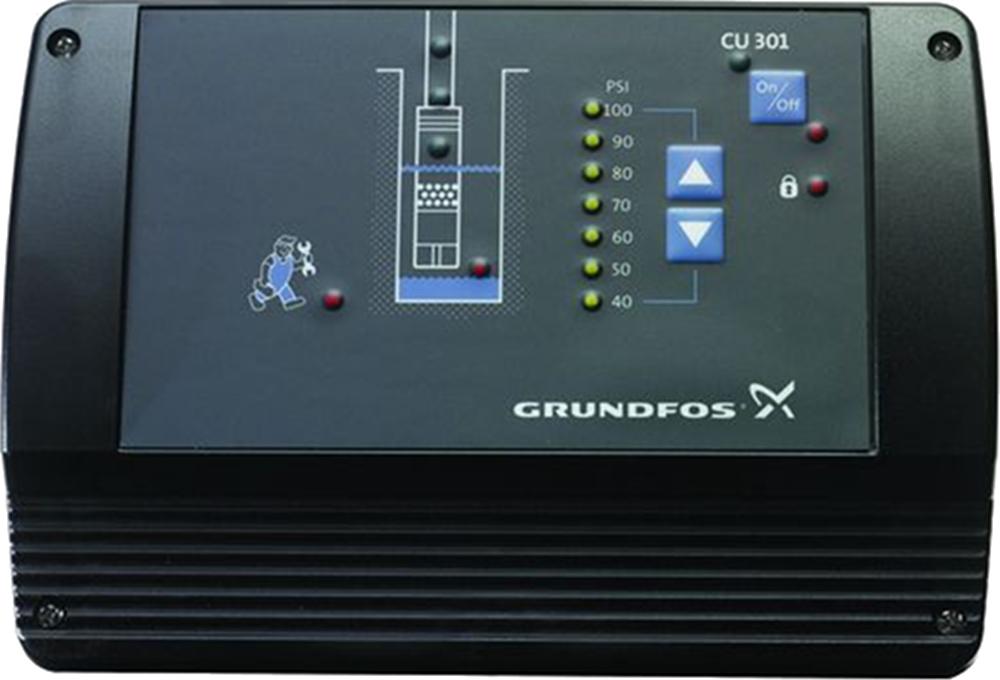 Купить со скидкой CU 301 96436753 Блок управления для скважинных насосов (2-5 бар, 100-240 В) Grundfos