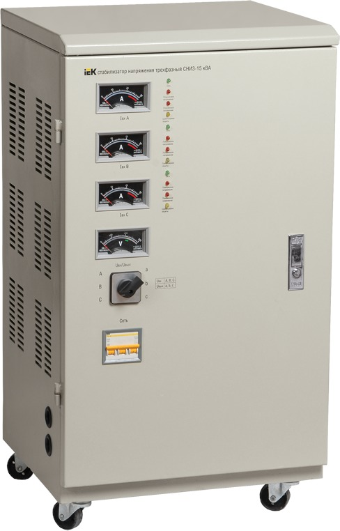 Купить со скидкой IVS10-3-15000 Стабилизатор напряжения СНИ3-15 кВА трехфазный IEK