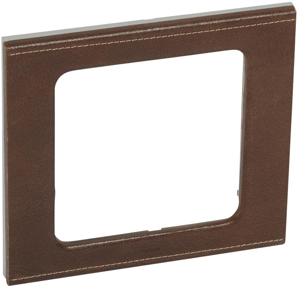 Купить со скидкой Celiane 069407 Рамка 1-постовая (горизонтальная, коричневый) Legrand