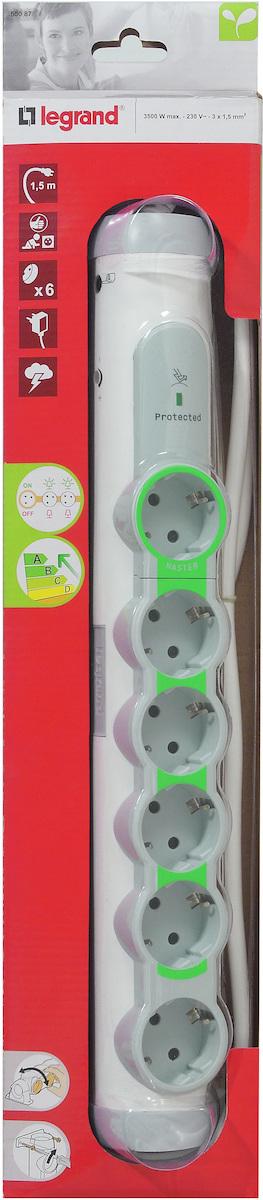 Купить со скидкой ''Комфорт и безопасность'' 694648 Сетевой фильтр 6-местный 1.5 м (з/к, 16 А) Упаковка (5 шт.) Legran