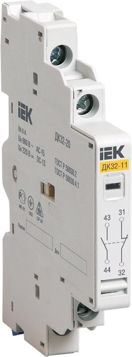 Купить со скидкой DMS11D-AE20 Дополнительный контакт поперечный ДКП32-20 Упаковка (20 шт.) IEK