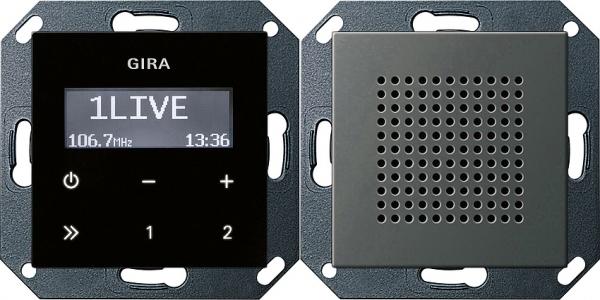 Купить со скидкой System55 2280600 Радио с громкоговорителем (RDS, под рамку, скрытая установка, нержавеющая сталь) Gi