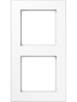 A550 A5582BFWW Рамка 2-постовая (ударопрочная, универсальная, белая) JUNG