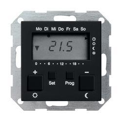 Купить со скидкой System55 2370005 Терморегулятор электронный с таймером +0…+50°С (8 А, под рамку, скрытая установка,
