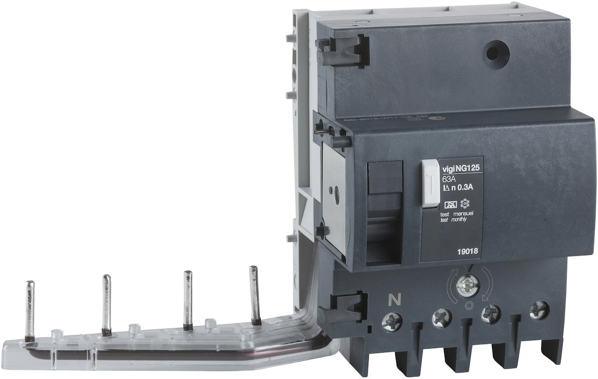 Фото #1: Acti 9 19041 Выключатель дифференциального тока четырехполюсный 125А 30мА (тип AC) Schneider Electri
