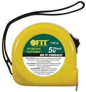 Фото FIT Оптима 17018 Рулетка 10 м х 25 мм (желтая)