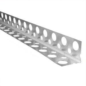 Фото Профиль углозащитный алюминиевый 20х20 перфорированный (3 м)
