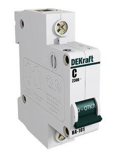 Фото DEKraft 11054DEK ВА-101 Автоматический выключатель однополюсный C16A (4.5 кА)