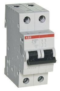 Фото ABB SH202L C10 2CDS242001R0104 Автоматический выключатель двухполюсный C10A (4.5 кА)