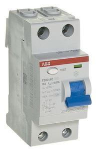 Фото ABB F202 AC-16/0,01 2CSF202001R0160 Выключатель дифференциального тока двухполюсный 16A 10мА (тип АС)