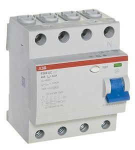 Фото ABB F204 AC-40/0,3 2CSF204001R3400 Выключатель дифференциального тока четырехполюсный 40A 300мА (тип АС)