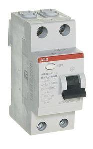 Фото ABB FH202 AC-25/0,03 2CSF202004R1250 Выключатель дифференциального тока двухполюсный 25A 30мА (тип АС)