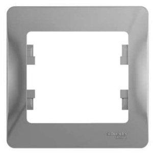 Фото Schneider Electric Glossa GSL000301 Рамка 1-постовая (алюминий)