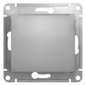 Фото Schneider Electric Glossa GSL000361 Переключатель одноклавишный (10 А, под рамку, скрытая установка, алюминий)