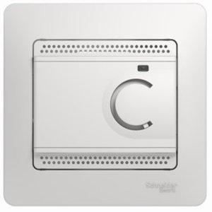 Фото Schneider Electric Glossa GSL000138 Термостат электронный для теплых полов +5…+50°С (10 А, 220 В, в сборе, скрытая установка, белый)