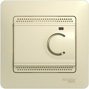 Фото Schneider Electric Glossa GSL000238 Термостат электронный для теплых полов +5…+50°С (10 А, 220 В, в сборе, скрытая установка, бежевый)
