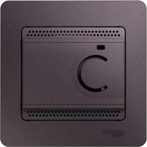 Фото Schneider Electric Glossa GSL001438 Термостат электронный для теплых полов +5…+50°С (10 А, 220 В, в сборе, скрытая установка, сиреневый туман)