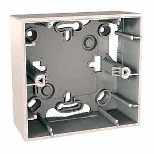 Фото Schneider Electric Unica MGU8.002.25 Коробка для накладного монтажа (1-постовая, открытой установки, бежевая)