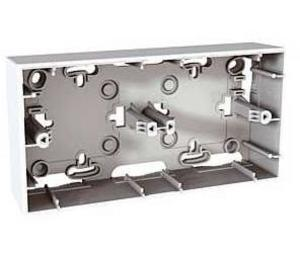 Фото Schneider Electric Unica MGU8.004.18 Коробка для накладного монтажа (2-постовая, открытой установки, белая)