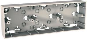 Фото Schneider Electric Unica MGU8.006.25 Коробка для накладного монтажа (3-постовая, открытой установки, бежевая)