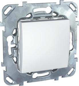 Фото Schneider Electric Unica MGU5.203.18ZD Переключатель одноклавишный (10 А, под рамку, скрытая установка, белый)