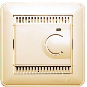 Фото Schneider Electric W59 TES-151-28 Термостат электронный для теплых полов +5…+50°С (10 А, 220 В, в сборе, скрытая установка, слоновая кость)