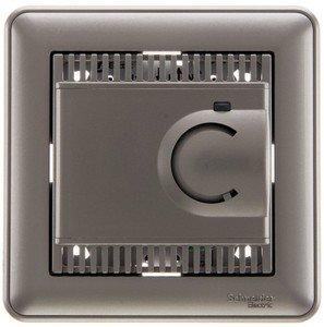 Фото Schneider Electric W59 TES-151-48 Термостат электронный для теплых полов +5…+50°С (10 А, 220 В, в сборе, скрытая установка, шампань)