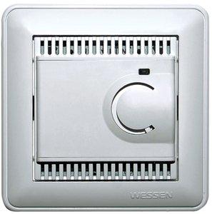 Фото Schneider Electric W59 TES-151-58 Термостат электронный для теплых полов +5…+50°С (10 А, 220 В, в сборе, скрытая установка, матовый хром)