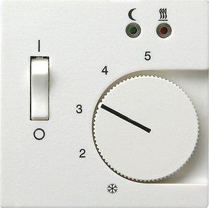 Фото Gira System55 149427 Крышка для терморегулятора (датчик, белая матовая)