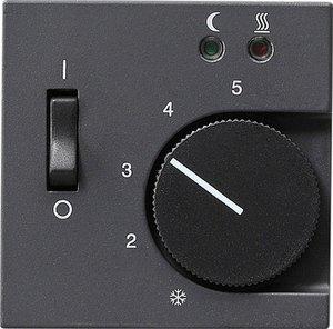 Фото Gira System55 149428 Крышка для терморегулятора (датчик, антрацит)