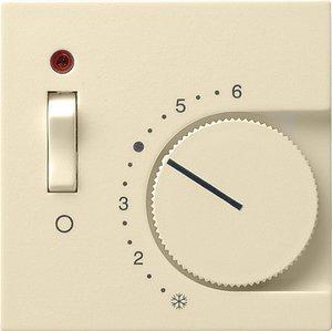 Фото Gira System55 149201 Крышка для терморегулятора (индикатор, кремовая глянцевая)