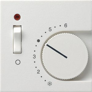 Фото Gira System55 149203 Крышка для терморегулятора (индикатор, белая глянцевая)