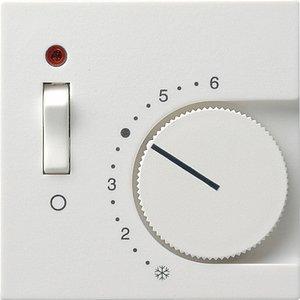 Фото Gira System55 149227 Крышка для терморегулятора (индикатор, белая матовая)