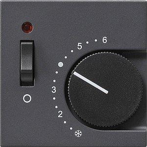 Фото Gira System55 149228 Крышка для терморегулятора (индикатор, антрацит)