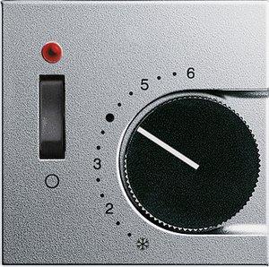 Фото Gira System55 149226 Крышка для терморегулятора (индикатор, алюминий)