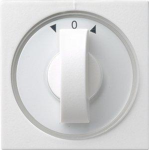 Фото Gira System55 066627 Крышка для поворотного выключателя и таймера (белая матовая)