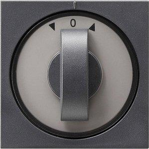 Фото Gira System55 066628 Крышка для поворотного выключателя и таймера (антрацит)