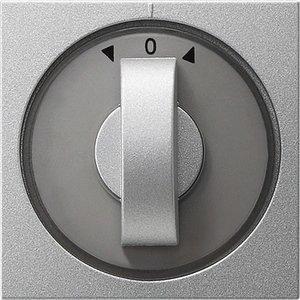 Фото Gira System55 066626 Крышка для поворотного выключателя и таймера (алюминий)