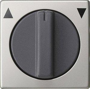 Фото Gira System55 0666600 Крышка для поворотного выключателя и таймера (сталь)