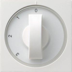 Фото Gira System55 066927 Крышка для поворотного выключателя (белая матовая)