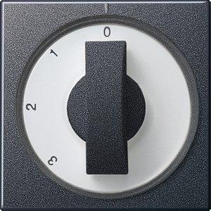 Фото Gira System55 066928 Крышка для поворотного выключателя (антрацит)